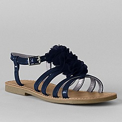 Lands' End - Blue girls' arabella flower dress sandals