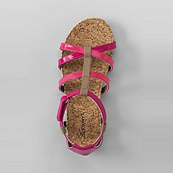 Lands' End - Pink girls' gladiator sandals