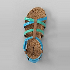 Lands' End - Blue girls' gladiator sandals