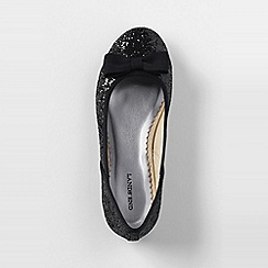 Lands' End - Black girls' classic flat ballet shoes