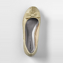 Lands' End - Gold girls' classic flat ballet shoes