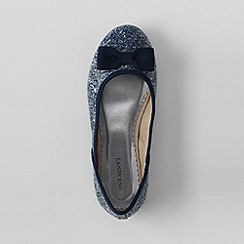 Lands' End - Blue girls' classic flat ballet shoes