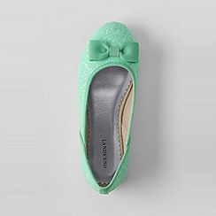 Lands' End - Green girls' classic flat ballet shoes