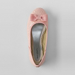 Lands' End - Pink girls' classic flat ballet shoes