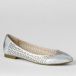 Lands' End - Metallic women's irina perforated ballet pumps