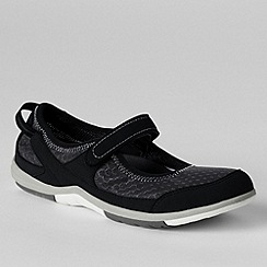 Lands' End - Black women's regular water mary janes