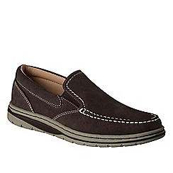 Lands' End - Brown men's casual comfort slip on shoes