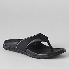 Lands' End - Grey men's sport flip flops