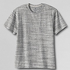 Lands' End - Grey men's slim fit ; washed jersey crew neck t-shirt