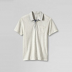 Lands' End - Cream men's seaworn polo slim