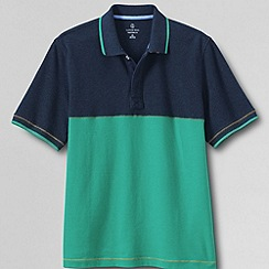 Lands' End - Multi men's short sleeve colourblock pique polo