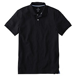 Lands' End - Black men's slim fit short sleeve original pique polo