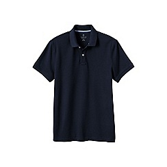 Lands' End - Blue men's slim fit short sleeve original pique polo