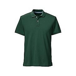 Lands' End - Green slim fit short sleeve original pique polo