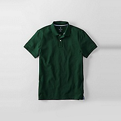 Lands' End - Green slim fit short sleeve original pique polo