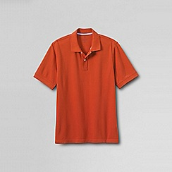 Lands' End - Orange men's short sleeve original pique polo shirt