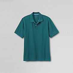Lands' End - Blue men's short sleeve original pique polo shirt