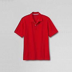 Lands' End - Red men's short sleeve original pique polo shirt