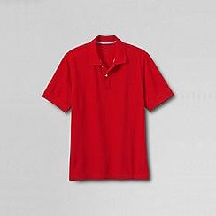 Lands' End - Red men's short sleeve original pique polo shirt