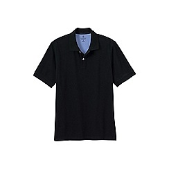 Lands' End - Black men's short sleeve original pique polo shirt