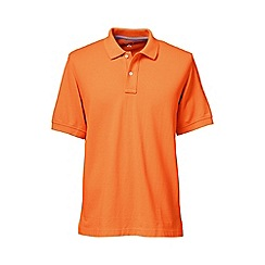 Lands' End - Orange short sleeve original pique polo shirt