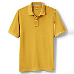 Lands' End - Gold short sleeve original pique polo shirt