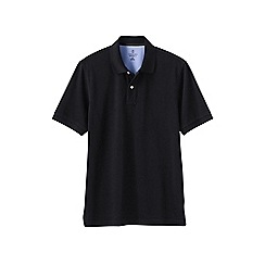 Lands' End - Black men's short sleeve tailored fit original pique polo