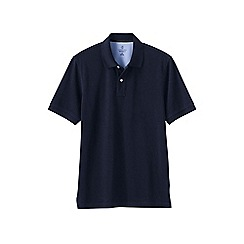 Lands' End - Blue men's short sleeve tailored fit original pique polo