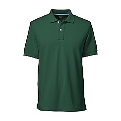Lands' End - Green short sleeve tailored fit original pique polo