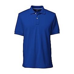 Lands' End - Blue short sleeve tailored fit original pique polo