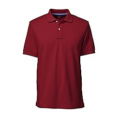 Lands' End - Red short sleeve tailored fit original pique polo