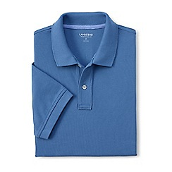 Lands' End - Blue short sleeve tailored fit original pique polo