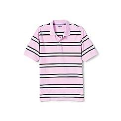 Lands' End - Pink short sleeve striped original pique polo