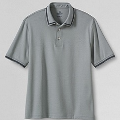 Lands' End - Grey men's short sleeve novelty supima polo