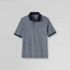 Lands' End - Multi men's short sleeve printed supima polo