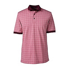 Lands' End - Pink short sleeve supima jacquard polo