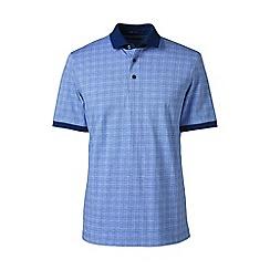 Lands' End - Blue short sleeve supima jacquard polo