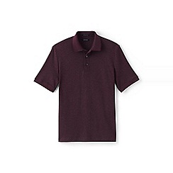Lands' End - Black short sleeve supima jacquard polo