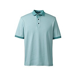 Lands' End - Green short sleeve stripe supima polo shirt