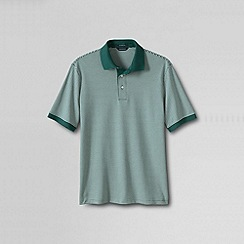Lands' End - Green men's short sleeve stripe supima polo shirt