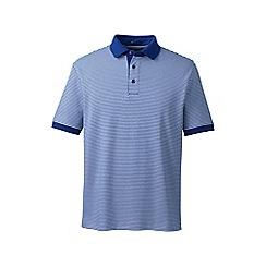 Lands' End - Blue short sleeve stripe supima polo shirt