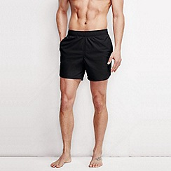 Lands' End - Black men's performance shake dry trunks