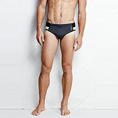 Lands' End - Grey men's performance swim briefs