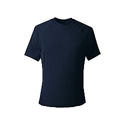 Lands' End - Navy blue short sleeve swim tee