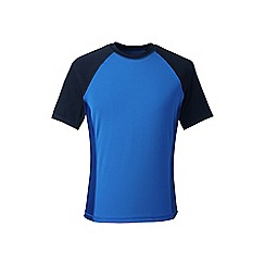 Lands' End - Blue short sleeve colourblock swim tee