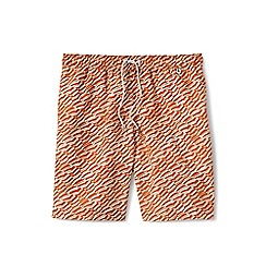 Lands' End - Orange print volley shorts
