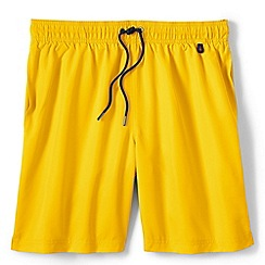 Lands' End - Yellow regular 8 plain swim shorts