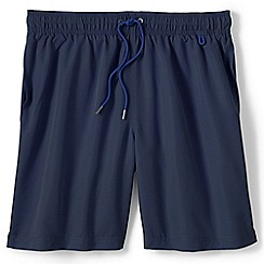 Lands' End - Blue regular 8 plain swim shorts