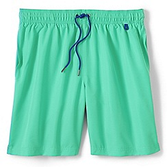 Lands' End - Green regular 8 plain swim shorts