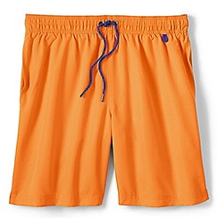 Lands' End - Orange regular 8 plain swim shorts